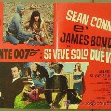 Cine: T06063 SOLO SE VIVE DOS VECES JAMES BOND 007 SEAN CONNERY POSTER ORIGINAL ITALIANO 47X68. Lote 6825552