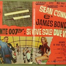 Cine: YD65D SOLO SE VIVE DOS VECES JAMES BOND 007 SEAN CONNERY POSTER ORIGINAL ITALIANO 47X68. Lote 6825574