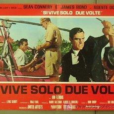 Cine: T06067 SOLO SE VIVE DOS VECES JAMES BOND 007 SEAN CONNERY POSTER ORIGINAL ITALIANO 47X68. Lote 6825651