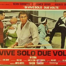 Cine: T06068 SOLO SE VIVE DOS VECES JAMES BOND 007 SEAN CONNERY POSTER ORIGINAL ITALIANO 47X68. Lote 6825671