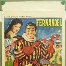 Cine: T06085 EL AMOR DE DON JUAN CARMEN SEVILLA FERNANDEL POSTER ORIGINAL BELGA 37X56. Lote 6826217