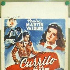 Cine: T06091 CURRITO DE LA CRUZ JORGE MISTRAL TONY LEBLANC TOROS POSTER ORIGINAL BELGA 36X55. Lote 6826750