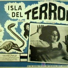Cine: TERROR - PETER CUSHING - ISLA DEL TERROR - TERENCE FISHER - ORIGINAL MEXICANO LOBBY CARD. Lote 13603329