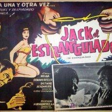 Cine: JACK EL ESTRANGULADOR - TERROR - HELGA SOMMERFELD - ORIGINAL MEXICANO LOBBY CARD. Lote 13603334