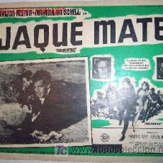 Cine: CHARLTON HESTON - JAQUE MATE - MAXIMILIAN SCHELL - BELICO - ORIGINAL MEXICANO LOBBY CARD. Lote 24332946