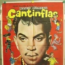 Cine: T06132 MARIO MORENO CANTINFLAS EL 7 MACHOS POSTER GENERICO ORIGINAL 70X100. Lote 6827725