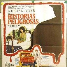 Cine: T06165 HISTORIAS PELIGROSAS MICHAEL CAINE POSTER ORIGINAL 70X100 ESTRENO. Lote 6837481