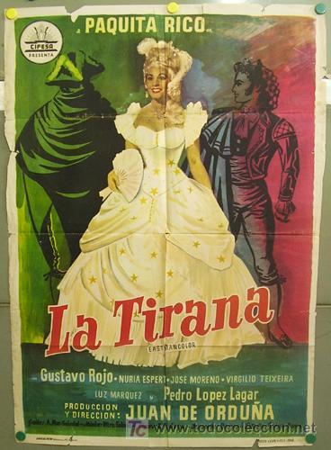 T06243 LA TIRANA PAQUITA RICO CIFESA POSTER ORIGINAL 70X100 ESTRENO (Cine - Posters y Carteles - Clasico Español)