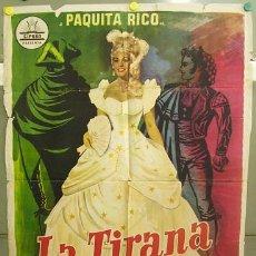 Cine: T06243 LA TIRANA PAQUITA RICO CIFESA POSTER ORIGINAL 70X100 ESTRENO. Lote 6842543