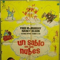 Cine: T06290 UN SABIO EN LAS NUBES FRED MACMURRAY BALONCESTO WALT DISNEY POSTER ORIGINAL 70X100 ESTRENO. Lote 6853513