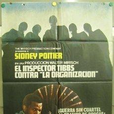 Cine: T06296 EL INSPECTOR TIBBS CONTRA LA ORGANIZACION SIDNEY POITIER BLACK CAST POSTER 70X100 ESTRENO. Lote 6862882