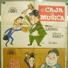 Cine: ZK98D LA CAJA DE MUSICA DOS TIOS GRANDES STAN LAUREL OLIVER HARDY POSTER ORIGINAL 70X100. Lote 6862937