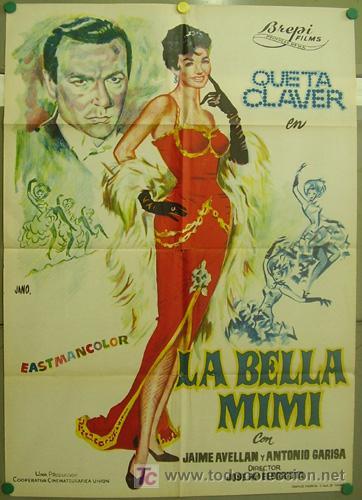 T06337 LA BELLA MIMI QUETA CLAVER SOLEDAD MIRANDAELORRIETA POSTER ORIG 70X100 ESTRENO LITOGRAFIA (Cine - Posters y Carteles - Clasico Español)