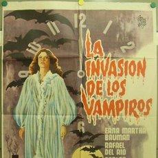 Cine: T06345 LA INVASION DE LOS VAMPIROS MIGUEL MORAYTA POSTER ORIGINAL 70X100 ESTRENO. Lote 6869502