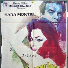 Cine: T06383 LA MUJER PERDIDA SARA MONTIEL INMA DE SANTIS POSTER ORIGINAL 70X100 ESTRENO. Lote 6869977