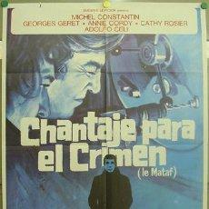 Cine: T06378 CHANTAJE PARA EL CRIMEN MICHEL CONSTANTIN POSTER ORIGINAL 70X100 ESTRENO. Lote 6870034