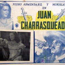 Cine: PEDRO ARMENDARIZ - JUAN CHARRASQUEADO - MIROSLAVA - ORIGINAL MEXICANO LOBBY CARD. Lote 13635009
