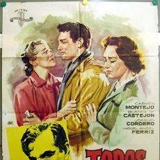 Cine: T06425 TODOS SON MIS HIJOS BLANCA DE CASTEJON JOAQUIN CORDERO JANO POSTER ORIGINAL 70X100 ESTRENO. Lote 6899650