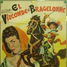 Cine: T06430 EL VIZCONDE DE BRAGELONNE GEORGES MARCHAL DAWN ADDAMS POSTER ORIGIN 70X100 ESTRENO LITOGRAFIA. Lote 6900079