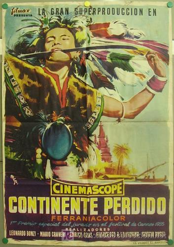 T06437 CONTINENTE PERDIDO DOCUMENTAL ITALIANO POSTER ORIGINAL 70X100 ESTRENO (Cine - Posters y Carteles - Documentales)