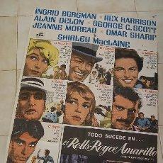 Cine: EL ROLLS- ROYCE AMARILLO -1975- MEDIDAS: 100 X 70 CM.. Lote 22842520