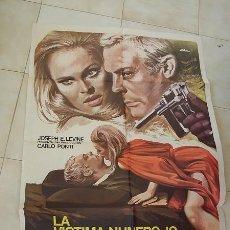 Cine: LA VICTIMA NÚMERO 10 -1975- MEDIDAS: 100 X 70 CM.. Lote 22842522