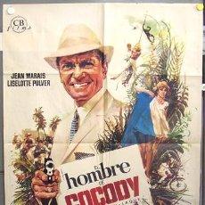 Cine: T06455 EL HOMBRE DE COCODY JEAN MARAIS POSTER ORIGINAL 70X100 ESTRENO. Lote 6928331