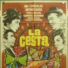 Cine: T06466 LA CESTA ANA ESMERALDA ANOTNIO GARISA LINA MORGAN MAC POSTER ORIGINAL 70X100 ESTRENO. Lote 6928658