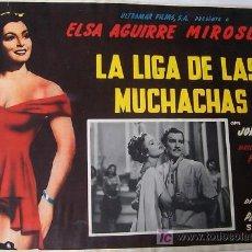 Cine: MIROSLAVA - LA LIGA DE LAS MUCHACHAS - ELSA AGUIRRE - JORGE REYES - LOBBY CARD ORIGINAL MEXICANO . Lote 13635047