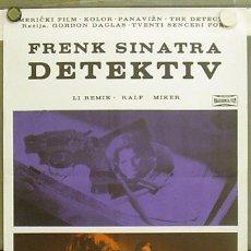 Cine: T06531 EL DETECTIVE FRANK SINATRA POSTER ORIGINAL YUGOSLAVO 50X70. Lote 7018010