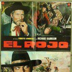 Cine: T06668 TEXAS EL ROJO RICHARD HARRISON SPAGHETTI POSTER ORIGINAL ITALIANO 68X94. Lote 7056022