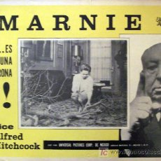 Cine: ALFRED HITCHCOCK - MARNIE - SEAN CONNERY - TIPPI HEDREN - DIANE BAKER - ORIGINAL LOBBY CARD MEXICANO. Lote 13676681