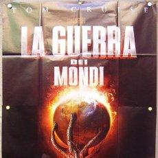 Cine: T06687 LA GUERRA DE LOS MUNDOS STEVEN SPIELBERG TOM CRUISE POSTER ORIGINAL ITALIANO 140X200. Lote 7060659