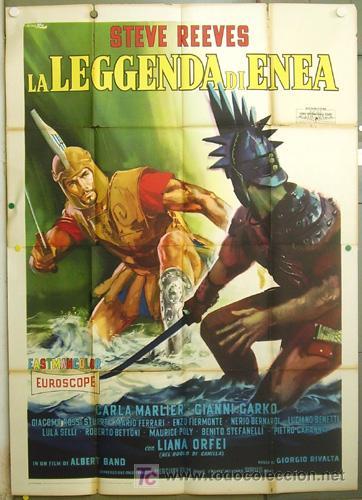 VO23D LA LEYENDA DE ENEAS STEVE REEVES PEPLUM POSTER ORIGINAL ITALIANO 140X200 (Cine - Posters y Carteles - Aventura)