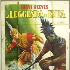 Cine: VO23D LA LEYENDA DE ENEAS STEVE REEVES PEPLUM POSTER ORIGINAL ITALIANO 140X200. Lote 15631704