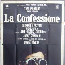 Cine: T06593 LA CONFESION COSTA-GAVRAS YVES MONTAND SIMONE SIGNORET POSTER ORIGINAL ITALIANO 140X200. Lote 13787177