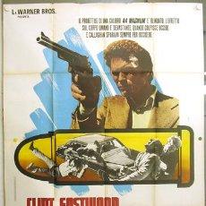 Cine: T06605 HARRY EL FUERTE DIRTY HARRY 2ND FILM CLINT EASTWOOD POSTER ORIGINAL ITALIANO 140X200. Lote 22326748