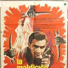 Cine: T06621 LA MALDICION AMARILLA JOACHIN FUCHSBERGER EDGAR WALLACE MAC POSTER ORIGINAL 70X100 ESTRENO. Lote 7103323