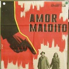 Cine: T06627 AMOR MALDITO ROBERT BERRI DANIELLE ROY POSTER ORIGINAL 70X100 ESTRENO LITOGRAFIA. Lote 7104661