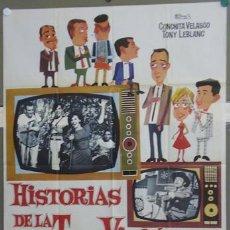 Cine: T06913 HISTORIAS DE LA TELEVISION CONCHA VELASCO TONY LEBLANC POSTER ORIGINAL 70X100 ESTRENO. Lote 12374646