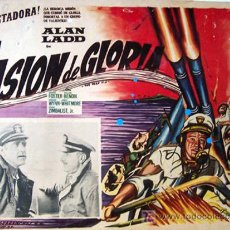 Cine: ALAN LADD - MISION DE GLORIA - WILLIAM BENDIX - KEENAN WYNN - ORIGINAL LOBBY CARD MEXICANO. Lote 13705588