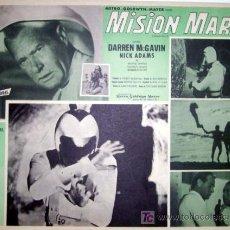 Cine: CIENCIA FICCION - MISION MARTE - DARREN MCGAVIN - NICK ADAMS - ORIGINAL LOBBY CARD MEXICANO. Lote 13691884