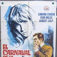 Cine: T06803 EL CARNAVAL DE LA MUERTE EDMOND O'BRIEN VERA MILES DON SIEGEL POSTER ORIGINAL 70X100 ESTRENO. Lote 7165005