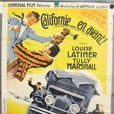 Cine: T06724D TITANES DE LA VELOCIDAD JOHN WAYNE POSTER ORIGINAL FRANCES 59X80 LITOGRAFIA. Lote 13135688