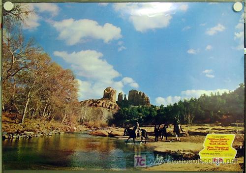 Cine: T06773 DOS HOMBRES CONTRA EL OESTE WILLIAM HOLDEN RYAN ONEAL 8 POSTERS ORIG 70X100 ESTRENO RAROS A - Foto 2 - 7160621