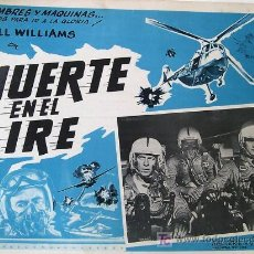 Cine: BILL WILLIAMS - MUERTE EN EL AIRE - HELICOPTERO - ORIGINAL LOBBY CARD MEXICANO. Lote 13723225