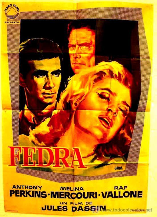 CARTEL CINE FEDRA , 1963, ORIGINAL (Cine- Posters y Carteles - Drama)