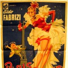 Cine: CARTEL CINE PARIS ES SIEMPRE PARIS , AÑOS 40-50, ARGENTINA. Lote 16026518
