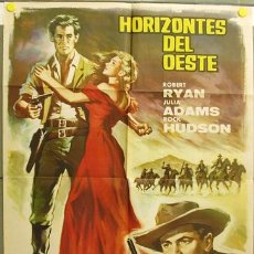 Cine: T06851 HORIZONTES DEL OESTE ROBERT RYAN JULIA ADAMS ROCK HUDSON POSTER ORIGINAL 70X100 ESTRENO. Lote 7211815