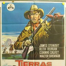 Cine: T06873 TIERRAS LEJANAS JAMES STEWART ANTHONY MANN SOLIGO POSTER ORIGINAL 70X100 ESPAÑOL. Lote 7215747